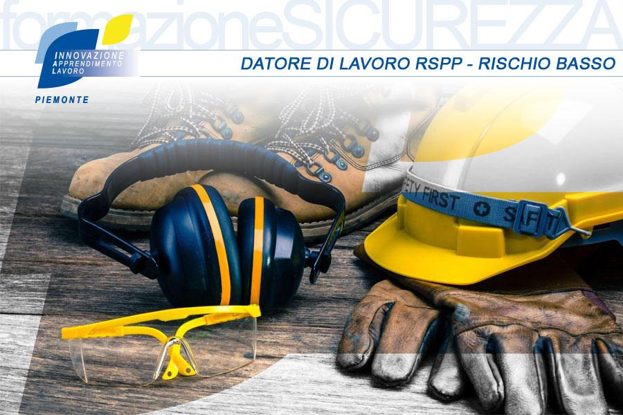 formazione datore di lavoro RSPP rischio basso - IAL Piemonte - sicurezza